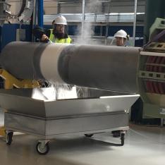 chladenie termoplastického povlaku vodou